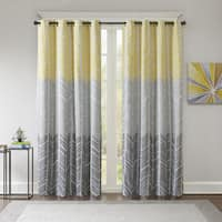 Shop Madison Park Mika Printed Ikat Curtain Panel On