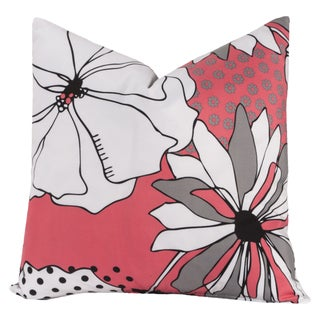Crayola Flower Patch Multicolor Polyester Decorative Toss Pillow