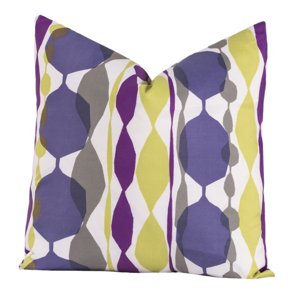 Crayola Be Jeweled White/Green/Purple Polyester Decorative Toss Pillow