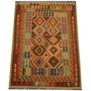 Herat Oriental Afghan Hand-woven Tribal Wool Kilim (4'8 x 6'6)