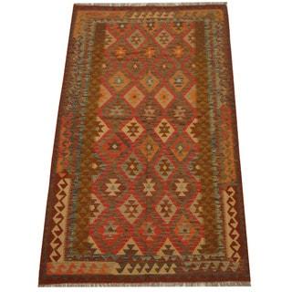 Herat Oriental Afghan Hand-woven Tribal Wool Kilim (4'9 x 7'11)