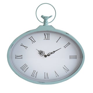 Stratton Home Decor Hand Crafted Metal Shabby Wall Clock