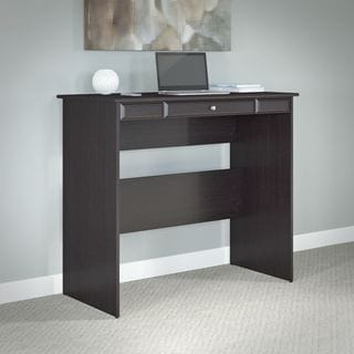 Cabot Espresso Oak Standing Desk with Adjustable Stool