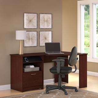 Cabot Harvest Cherry Corner Desk and Office Chair