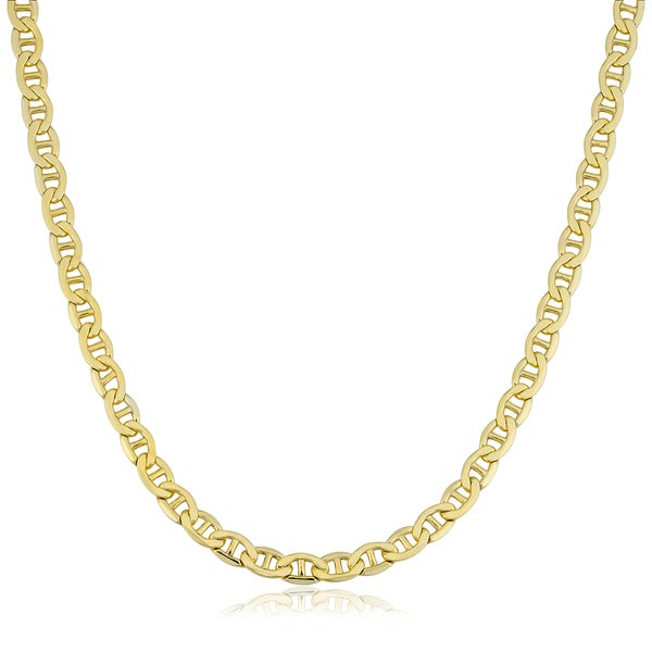 e0663ffda4f4 Fremada 14k Yellow Gold Filled Men's 5mm Mariner Link Chain Necklace