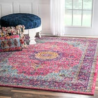 Maison Rouge Roya Traditional Persian Vintage Fancy Pink Area Rug - 9' x 12'