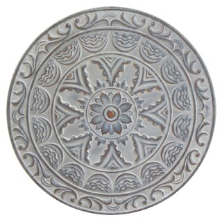 Stratton Home Decor Blue Metal Medallion Wall Decor