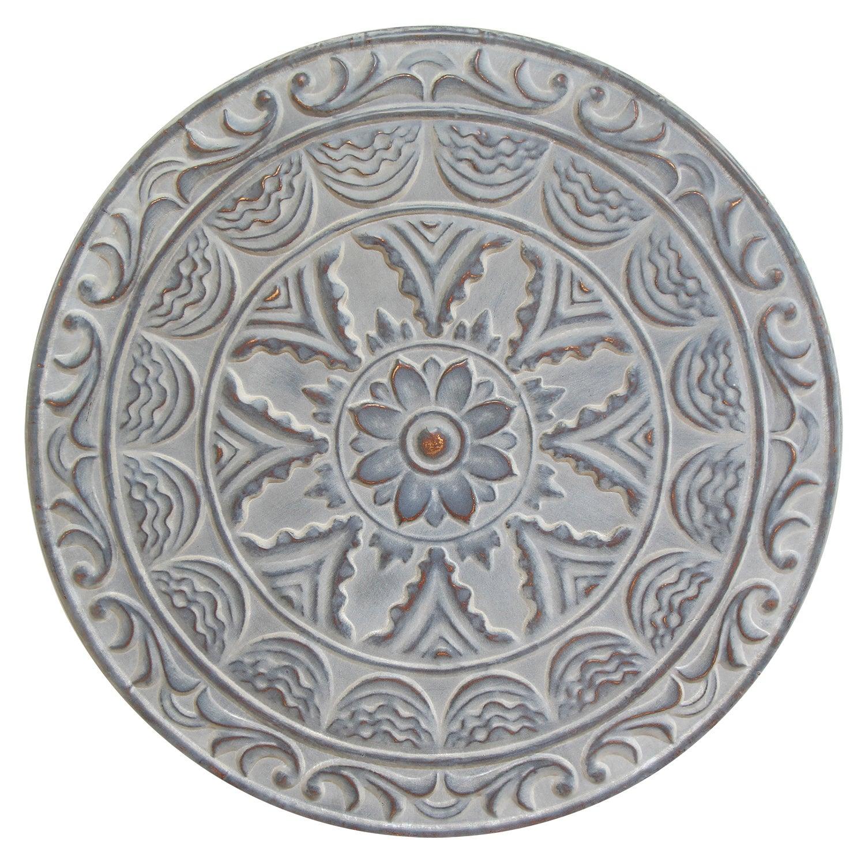 Stratton Home Decor Blue Metal Medallion Wall Decor Overstock 12874849