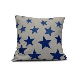 E by Design 26-inch Just Stars Geometric Print Pillow