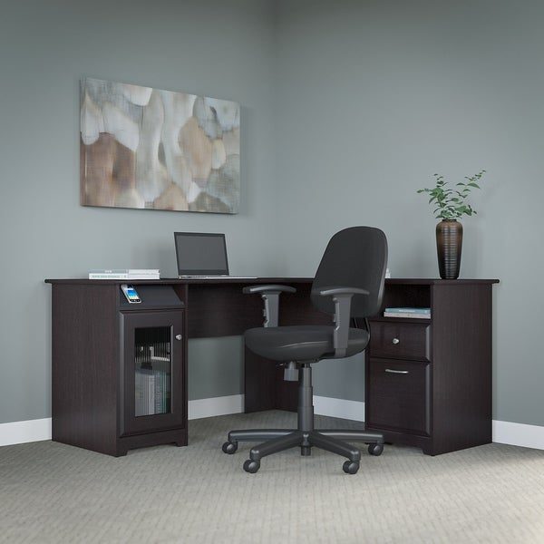 Shop Bush Furniture Cabot L Shaped Desk And Office Chair