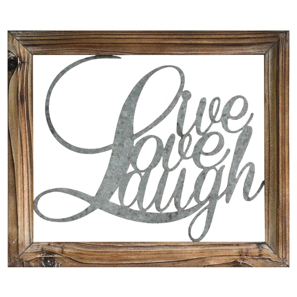 Shop Stratton Home Decor Live Laugh Love Bluebrown Wood And Metal