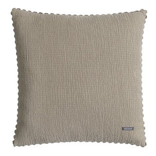 Vera Wang Pucker Sable 20-inch Decorative Pillow