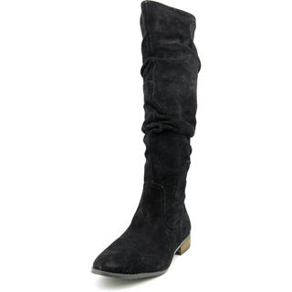 Steve Madden Women's Tangy Black Regular Suede Boots