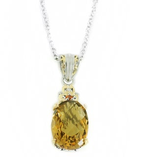One-of-a-kind Michael Valitutti Maderia Citrine and Citrine Pendant