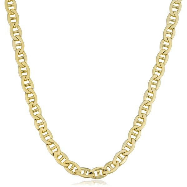 14k Yellow Gold Paperclip Chain Style 14K 2.6 mm Elongated Flat Long Link Chain 7 Bracelet 14k White Gold 14k Rose Gold