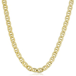 Fremada 14k Yellow Gold Filled Men's 5.9mm Mariner Link Chain Necklace