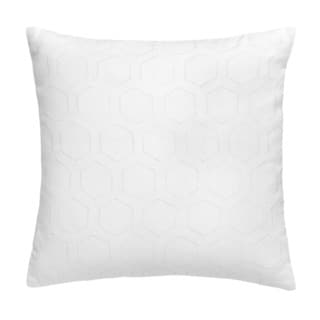 Jill Rosenwald Blackpoint Hex Square White Eyelet Decorative Pillow 16-inch
