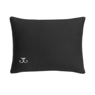 Jill Rosenwald Blackpoint Hex Black Onyx Embroidered Decorative Pillow