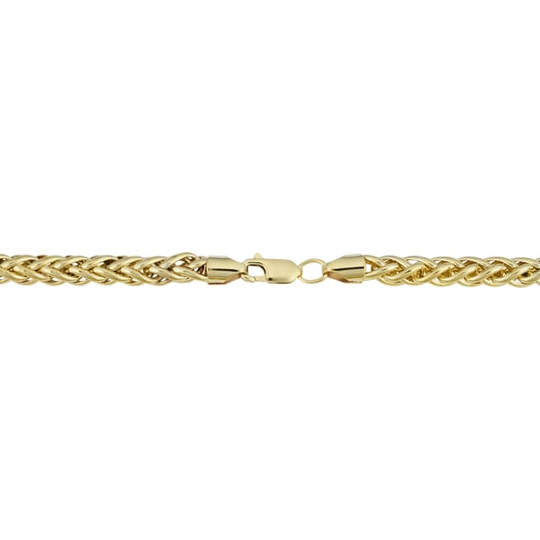 BH 5 Star Jewelry 14kt Gold 8.5 Yellow Finish 8mm Shiny Oval Bracelet with Lobster Clasp