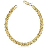 14k Yellow Gold Filled 6-mm Bold Franco Link Chain Bracelet (7.5-8.5 inches)