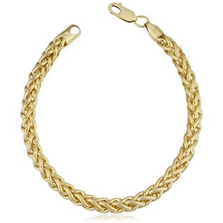 14k Yellow Gold Filled 6 Mm Bold Franco Link Chain Bracelet 7 5 8