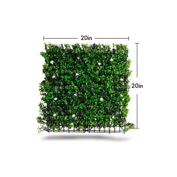 Indoor/Outdoor Tulum Flowering Artificial Foliage Wall Panels (Set of 4) - Green