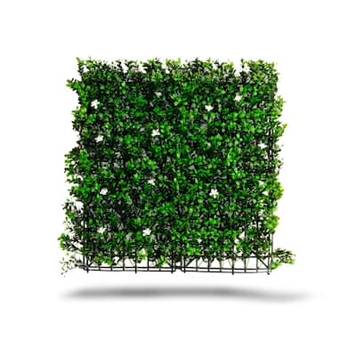 Indoor/Outdoor Tulum Flowering Artificial Foliage Wall Panels (Set of 4) - Green