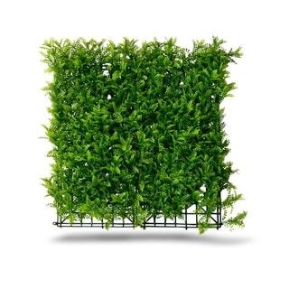 Indoor/Outdoor Fern Artificial  Foliage Wall Panels (Set of 4) - Green