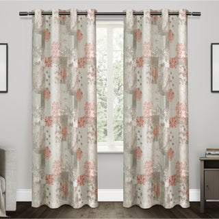 ATI Home Patchwork Cotton Window Curtain Panel Pair with Grommet Top