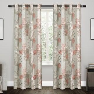 ATI Home Patchwork Cotton Grommet Top Curtain Panel Pair - 54X84