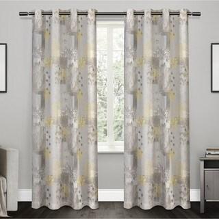 ATI Home Patchwork Floral Print 100-percent Cotton Grommet-top Window Curtain Panel Pair