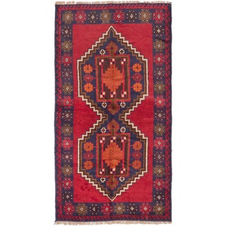 eCarpetGallery Hand-knotted Kazak Blue/Red Wool Area Rug (3'5 x 6'4)