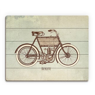 Bicyclette Wood Wall Art