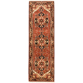 eCarpetGallery Hand-knotted Serapi Heritage Brown Wool Area Rug (2'7 x 8'0)