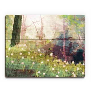 'Dandelion Forest Afternon' Wood Wall Art