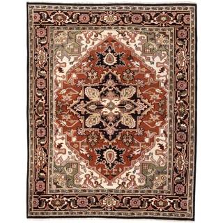 eCarpetGallery Royal Heriz Black/Brown Wool Hand-knotted Rug (8'1 x 10'2)
