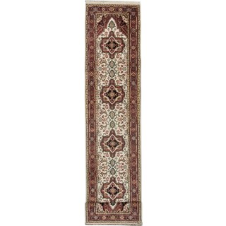 eCarpetGallery Serapi Heritage Blue/Red Wool Hand-knotted Rug (2'6 x 16'3)
