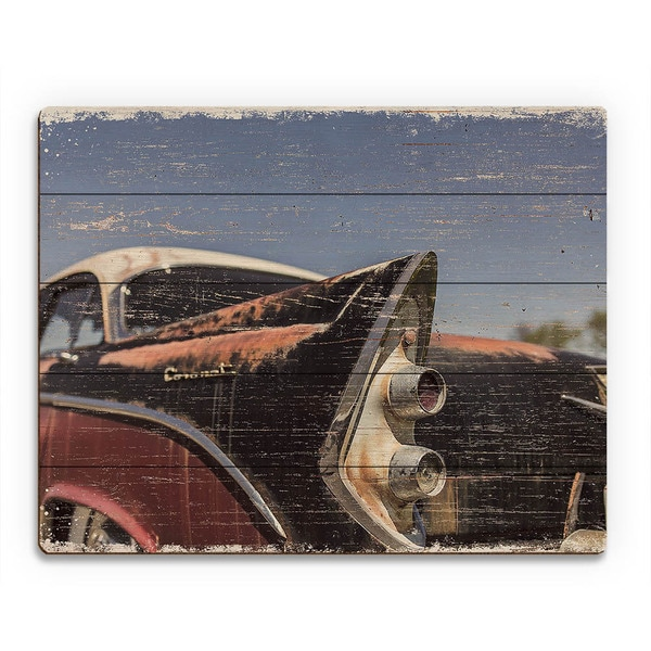Hot Rod Tail\' Wood Wall Art - Free Shipping Today - Overstock - 19635634