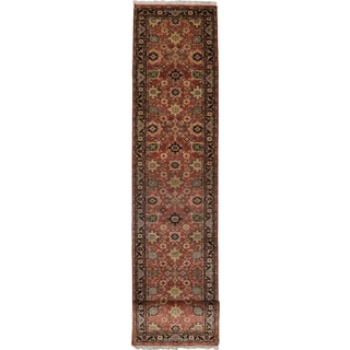 eCarpetGallery Serapi Heritage Black/Red Wool Hand-knotted Rug (2'7 x 16'3)