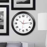 Clay Alder Home Discovery 15 Inch Retro Style Wall Clock - Black