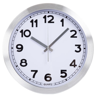 Everyday Home 12 Inch Brushed Aluminum Wall Clock