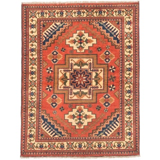eCarpetGallery Finest Kargahi Brown Hand-knotted Wool Rug (5'1 x 6'7)