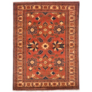 eCarpetGallery Finest Kargahi Brown Wool Hand-knotted Rug (5'0 x 6'8)