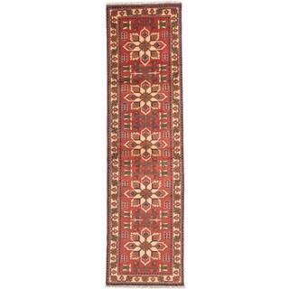 eCarpetGallery Finest Kargahi Brown Wool Hand-Knotted Rug (2'9 x 9'9)