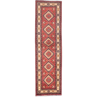 eCarpetGallery Finest Kargahi Orange Wool Hand-knotted Oriental Runner Rug (2'11 x 10'2)