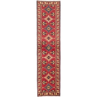 eCarpetGallery Kargahi Red Wool Hand-knotted Rug (2'9 x 11'3)