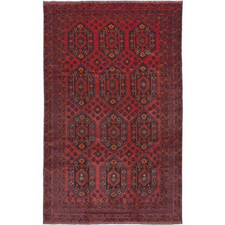 eCarpetGallery Hand-knotted Finest Rizbaft Red Wool Area Rug (8'1 x 13'2)