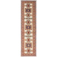 eCarpetGallery Ivory Wool Hand-knotted Royal Kazak Rug (2'8 x 9'10)