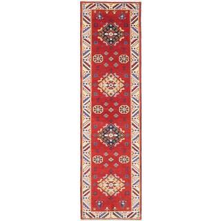 eCarpetGallery Royal Kazak Red Wool Hand-knotted Rug (2'10 x 10'2)
