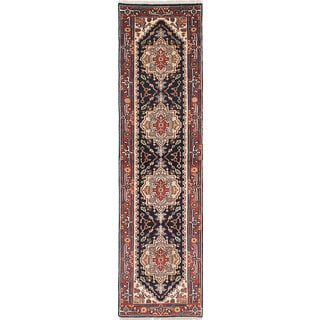eCarpetGallery Serapi Heritage Blue Wool and Cotton Hand-knotted Oriental Runner Rug (2'6 x 9'8)